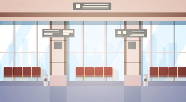 Sala de espera do aeroporto terminal de embarque interno check-in