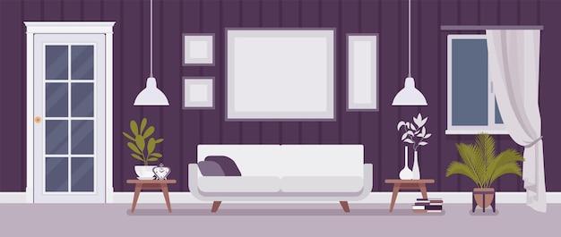 Sala de estar bem projetada