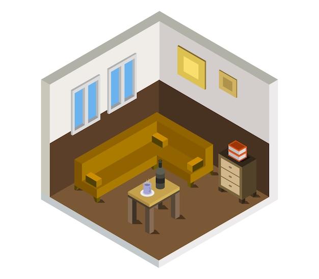 Sala de estar isométrica