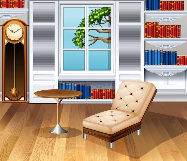 Sala de estar totalmente mobilada