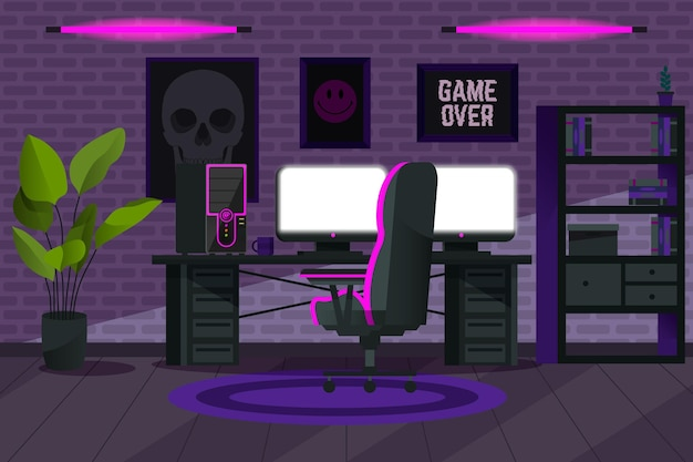 Sala de jogos de desenhos animados criativos