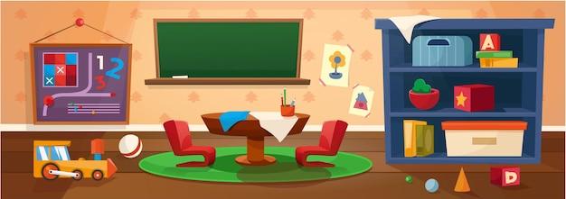Sala de jogos do jardim de infância aula do ensino fundamental