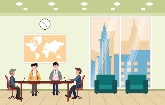 Sala de reunião da conferência do escritório de apresentação do gerente principal