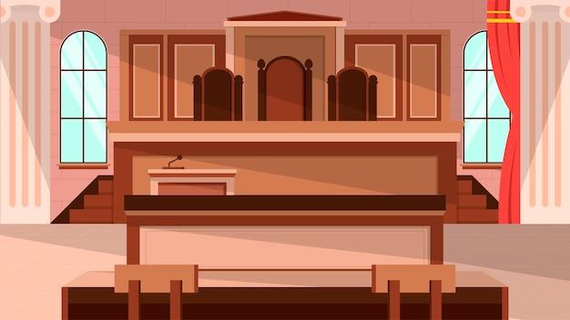 Sala de tribunal - cenas internas