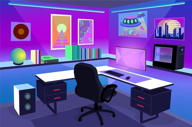 Sala detalhada do jogador