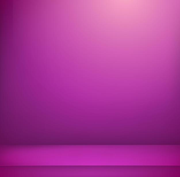 Sala iluminada com violeta