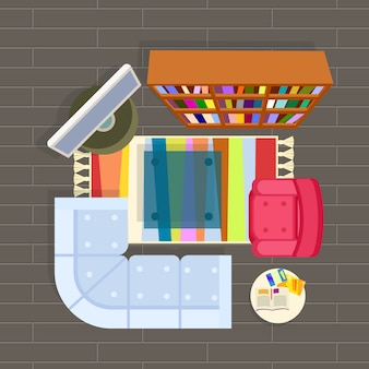 Sala planejando ilustração cinza