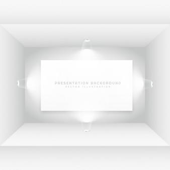 Sala vazia com frame de retrato