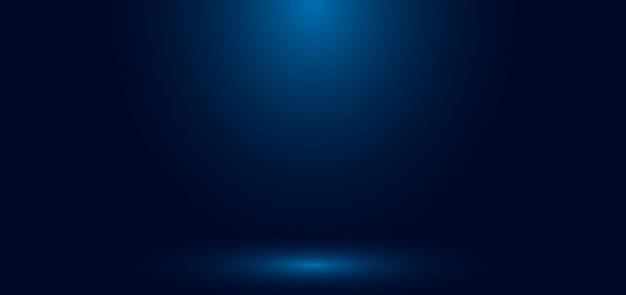 Sala vazia do estúdio com parede gradiente azul