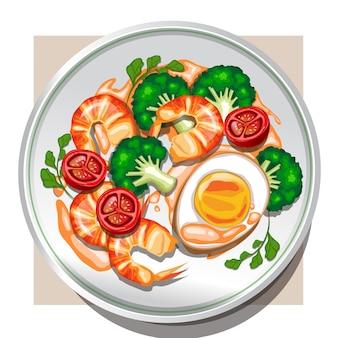 Salada de camarão estilo restaurante