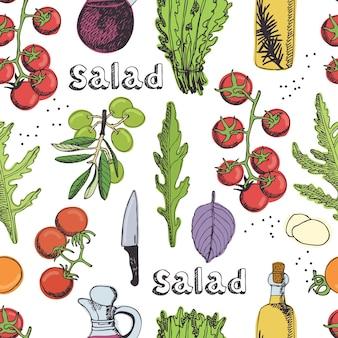 Salada de fundo sem costura