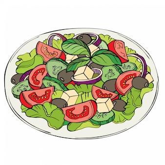 Salada fresca, alimentos orgânicos, legumes
