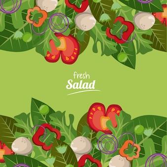 Salada fresca de legumes deliciosa comida orgânica
