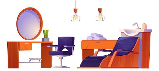 Salão de beleza de barbearia ou estúdio de cabeleireiro