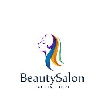 Salão de beleza de design de logotipo