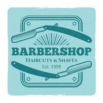 Salão de cabeleireiro ou barbearia rótulo vintage