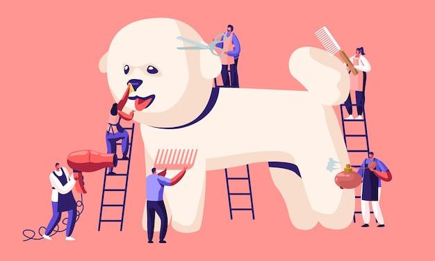 Salão de cabeleireiro para animais de estimação, loja de estilos e cuidados pessoais, loja de animais
