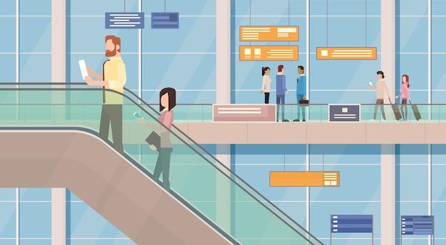 Salão de passageiros do aeroporto de passageiros