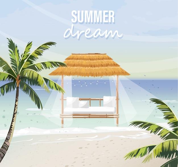 Salão de praia de verão