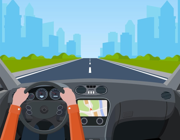 Salão de veículos, motorista interno