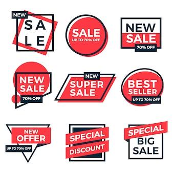 Sale labels tag set coleção