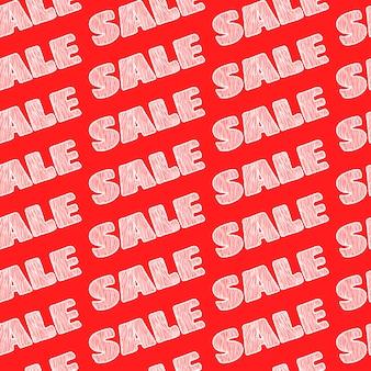 Sale sale sale seamless pattern.