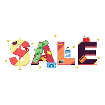 Sale shopping tipography