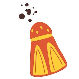 Saleiro ou pimenteiro. especiaria. utensílio de cozinha. conceito de cozinha. saleiro para utensílios de cozinha.