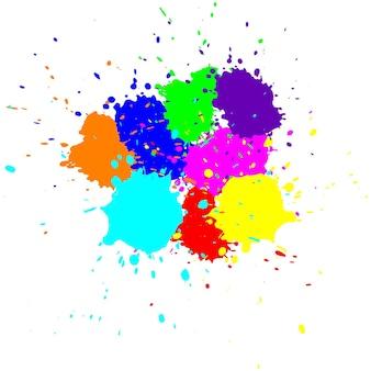 Salpicos coloridos em forma abstrata. ilustração vetorial