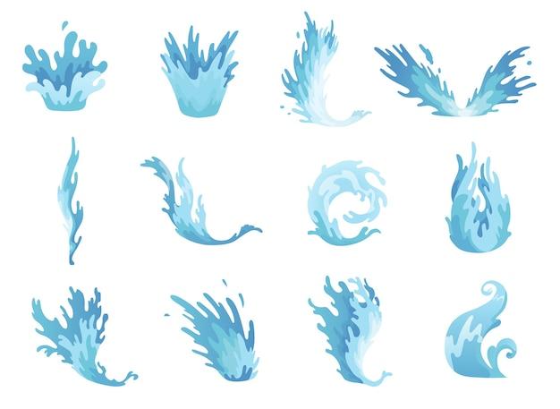 Salpicos de água.