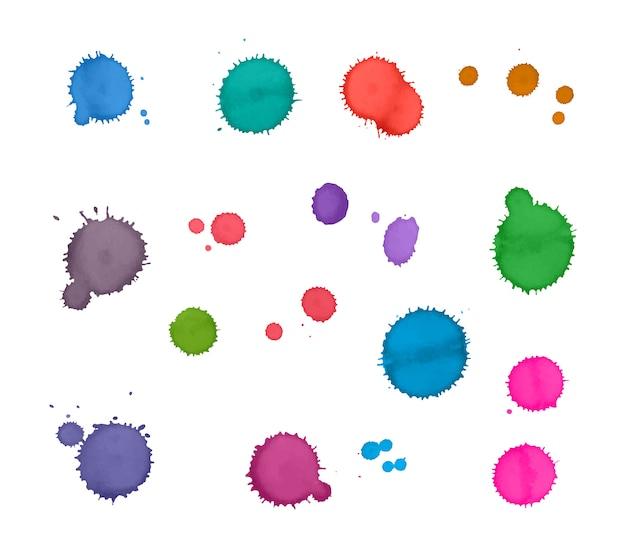 Salpicos de aquarela coloridos