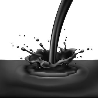 Salpicos de tinta preta