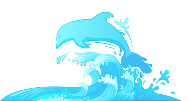 Saltar golfinho fora d'água