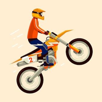 Salto de bicicleta de motocross