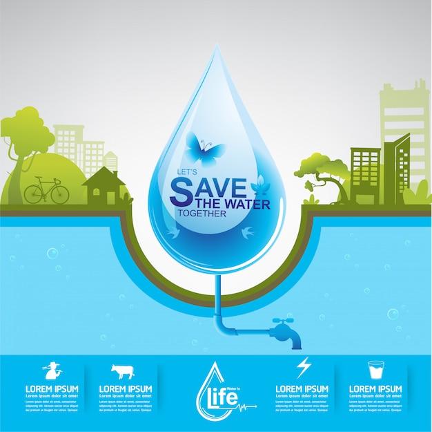 Salvar a água água é vida