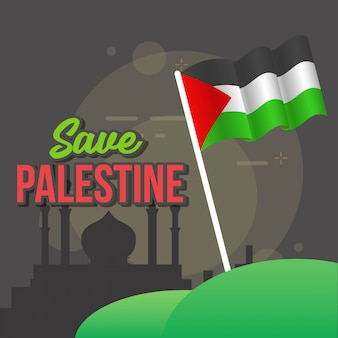 Salvar a ilustração da palestina