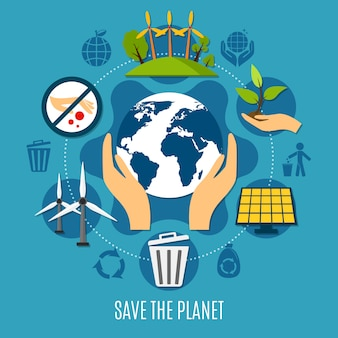 Salvar a ilustração do planeta