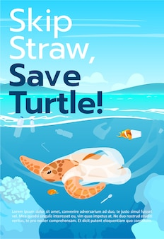 Salvar modelo de folheto de tartaruga