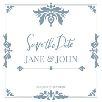 Salvar o cartão de casamento da data