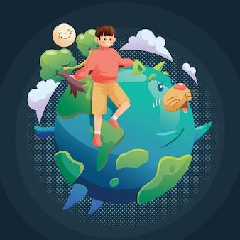 Salvar o planeta com forma de gato