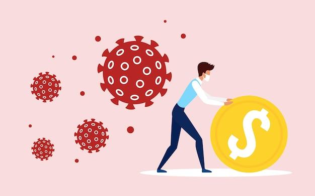 Salvar proteja negócios durante o conceito de pandemia de coronavírus