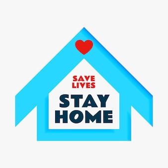 Salvar vidas e ficar em casa design de cartaz