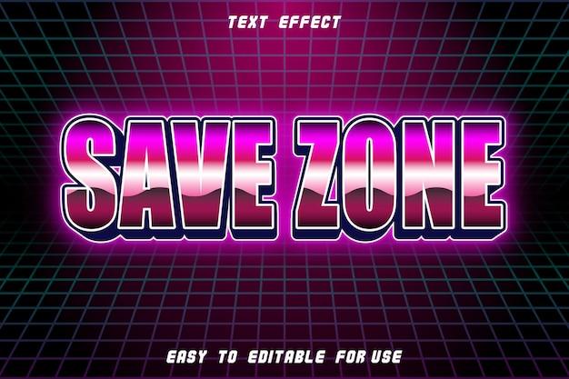 Salvar zona de efeito de texto editável em relevo estilo retro