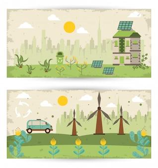 Salve a campanha da natureza com cenas de paisagens