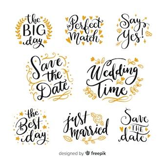 Salve a coleção de datas no estilo de letras