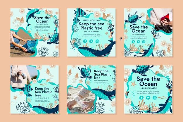 Salve a coleção de postagens do ocean instagram