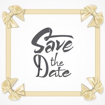 Salve a data - letras caligráficas para convite de design