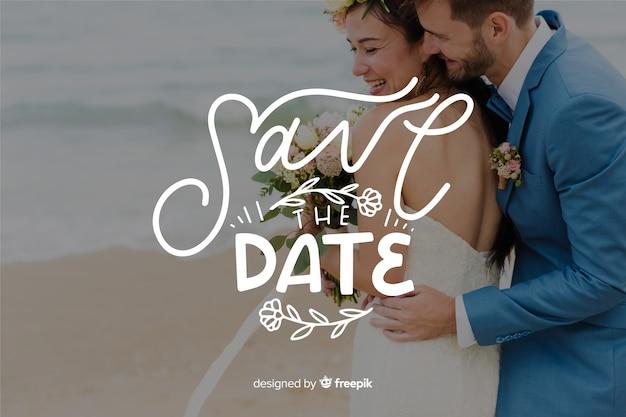 Salve a data lettering com foto