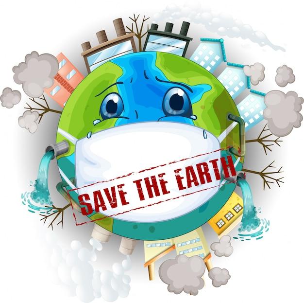 Salve a ilustração da terra