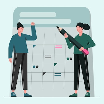 Salve a ilustração do conceito de data